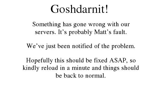 Goshdarnit!