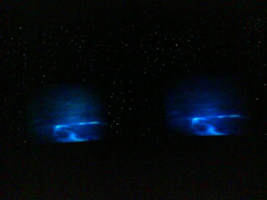 Granada Ballroom. Ruang Granada ketika lampu dimatikan. Bertabur kerlip lampu. Serasa diangkasa.