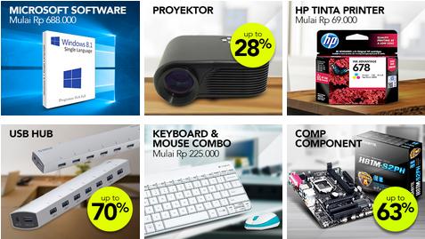 Promo produk laptop dan komputer di Blibli.com