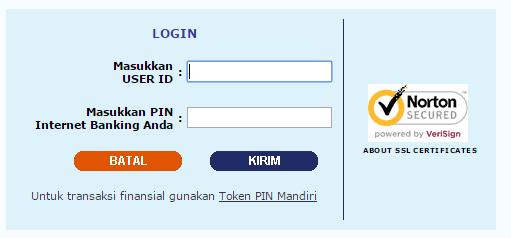 Login e-Banking Mandiri