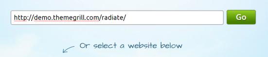 Masukkan URL/alamat website