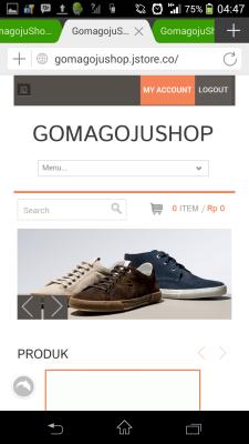 Ihiy! Gomagojushop.jstore.co tampil cantik!