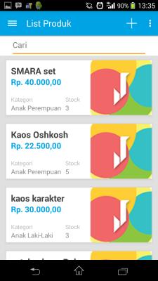Mobile Apps Jarvis : Daftar produk