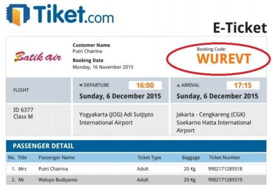 Panduan Web Check In BatikAir | Lakukanlah dengan sepenuh hati!